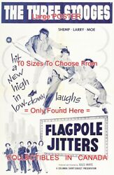 Flagpole Jitters 1956 Three Stooges Last Shemp Movie = Poster 10 Sizes 17-4.5ft