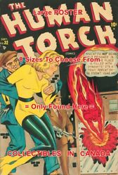 Human Torch 1948 Sun Girl Gangsters = Poster Not Comic Book 8 Sizes 17 - 3 Ft