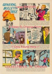 Bulletin Tree 1959 Before Newspapers = Poster Comic Book 8 Sizes 18 - 3 Feet