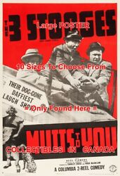 3 Three Stooges 1938 Mutts To You Old Car Daffiest = Poster 10 Sizes 17-4.5 Ft