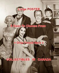 The Munsters 1964 Tv Show Cast Tv Step Stool = Poster 8 Sizes 17 - 3 Feet