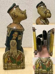 1930 Popeye With Birdand039s Cane Spring Walking Tinplate Mar Toys Things At The Time