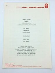 Ghostbusters Press Release- Columbia Pictures - Uk Release - 1984