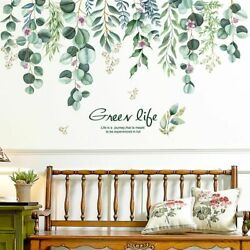 Bedroom Tree Leaves Plant Wall Stickers DIY Decals For House Decoration Ornament