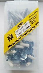 76pc Hurricane Wood Hardware Shutter Kit With Anchors Wing Nut And Caps