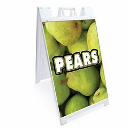 Signmission Signicade Pears A-frame Sidewalk Sign With Graphics On Each Side ...