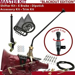 Th350 Shifter Kit 23andampquot E Brake Cable Clamp Trim Kit Dipstick For Dd235