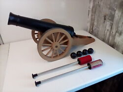 Vintage Remco Johnny Reb Cannon Toy Cannon Ramrod W/ Balls Pre Owned