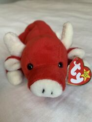 Ty Beanie Baby Snort The Bull 1995 Retired Tag Errors With Numeric Date