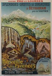 1920s French Art Deco Travel Poster Merveille Des Pyrenees Travel Gift