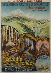 1920s French Art Deco Travel Poster, Merveille Des Pyrenees, Travel Gift