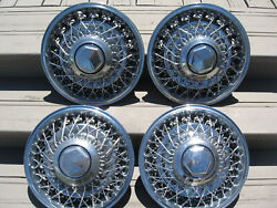 4 Oem 1979 - 1989 Dodge Chrysler Plymouth 15 Wire Spoke Hubcaps Wheel Covers