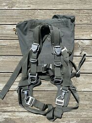 2011 Gi Issue Static Line Harness + Chute Bag For Military Parachute