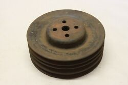 Original 1960and039s 70and039s Ford Car Truck V8 3 Groove Water Pump Pulley Oem Fomoco