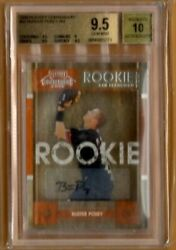 2008 Playoff Contenders 63 Buster Posey Sf Giants Auto Rc Bgs 9.5 Gem Mint