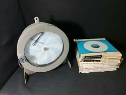 Vintage Honeywell Brown Recorder 612x21 With 8 Boxes Of Circular Charts