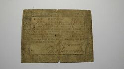 1776 1 1/3 Annapolis Maryland Md Colonial Currency Bank Note Bill Rare Issue