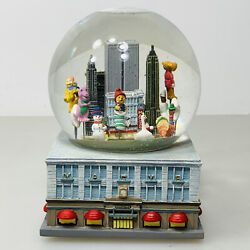 1999 Macy's Thanksgiving Day Parade Musical Snow Globe Twin Towers Nyc With Box