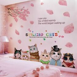 Kids Nursery Bedroom Tree Leaves amp; Cats Wall Stickers Decal For House Decoration