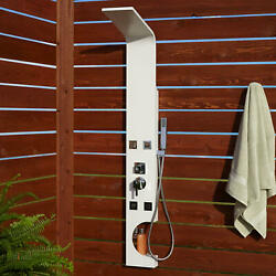 Signature Hardware 400736 Braunfels Thermostatic Outdoor Shower - White
