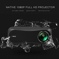 100001 Native 1080p Projector Full Hd Home Theater Basketball Game Birthday Usb