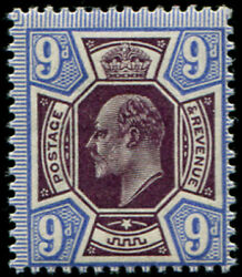 9d Sg 307a Variety, 'very Deep Plum And Blue' U/m, Fab Colour Of This Scarcer S
