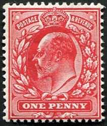 1d Sg 273 Variety, 'very Deep Rose-red' U/m, With Fab Colour Of This Scarce Sha