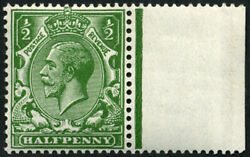 ½d Sg 351 Variety, 'very Deep Bright-green' And 'no Wmk' U/m, Fab Colour Of This