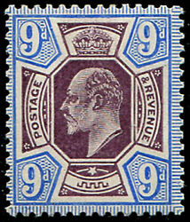 9d Sg 251a 'deep Slate Purple And Ultramarine'c U/m, Amazing Colour Of This Sca
