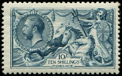 10/- Sg 417 'deep Dull-blue' U/m, Fresh With Excellent Colour Of This Scarcer S