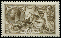 2/6d Sg 407 Variety, 'deep Grey-brown' U/m, Fresh And Fab Colour Of This Scarcer