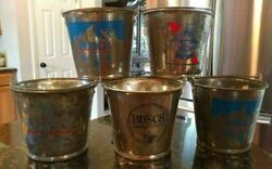 5 Vtg Strassenfest Beer Buckets St Louis Columbia Il Retro Rare Busch Ab Pabst