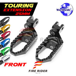 25mm Extended Wide Front Footpegs For Yamaha Mt-09 Tracer 2015 2016 2017