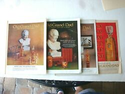 Lot Of 4 Different Old Grand-dad Bourbon Whiskey Liquor 1963 10 X 13 Print Ad