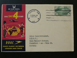 First Flight Cover Tokyo Japan To Hamburg Air France 1959 Over North Pole 95334