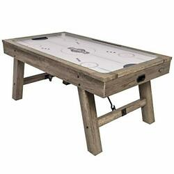 Brookdale Air-powered Hockey Table With Rustic Wood Grain Finish Angled Legs