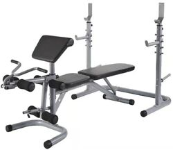 Fitness Adjustable Weight Lift Bench Rack Set , Curl Weight Workout And Sit Up