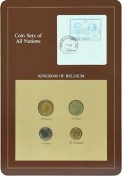 Belgium Set Of Coins 1982-1988 Unc 50 Cents 1 5 20 Francs And 1 Mark Booklet