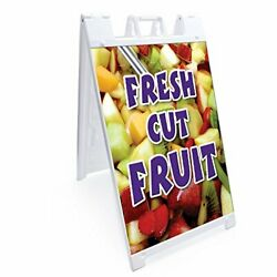 Signmission Signicade Fresh Cut Fruit A-frame Sidewalk Sign With Graphics On ...