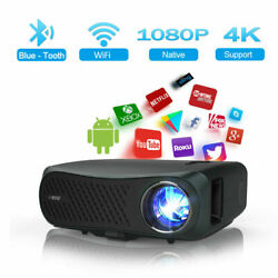 8500lm 5g Wifi Native 1080p Projector Home Cinema 4k Movie Basketball Game Apps