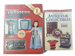 Schroederand039s Antiques And Collectibles Price Guide Lot Of 2 Reference Books