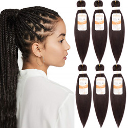Pre Stretched Braiding Hair Professional Hot Water Setting Synthetic Fiber Yaki