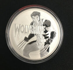 Date Error 2018 Stamped Wolverine 1oz Silver Marvel Coin And 2021 Correct Coin Set