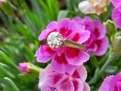 Edwardian 18ct White Gold 1.01ct Old European Cut Diamond Solitaire Ring