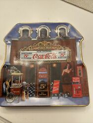 Coca Cola Cinema Limited Edition Plate By Sandi Lebron 1999 Plate Number Ra 1760