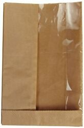 Bagcraft Papercon 300094 Natural Double View Waxed Paper Sandwich Bag 5 3/4x...