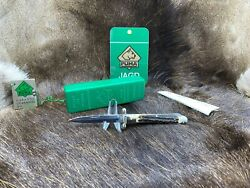 1991 Vintage 563 Medici Knife With Stag Handles With Tag - Mint In Box