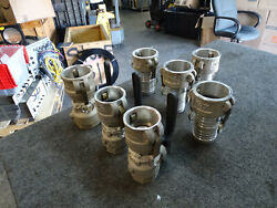 Lot Of 7 Couplers Opw Dover Dry Disconnect Coupling 2 And 1.5 And 4 Pt Hb20 25c