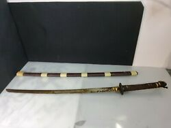 Wwii Japanese Army Officerand039s Samurai Sword Antique 37 Authentic Marked