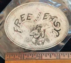 Geo. S. Harris And Son Free And Easy Label Black Minstrel Ad Cigar Box Sample